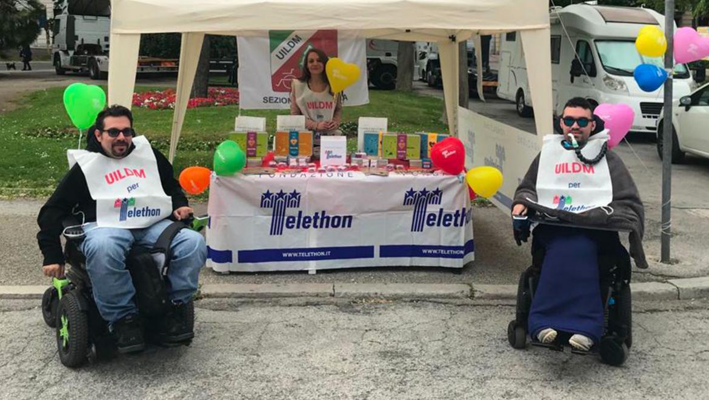 Banchetto di raccolta fondi per Telethon - Piazza Cavour Ancona